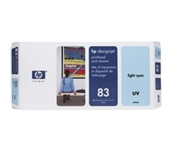 HP Printer Maintenance Kits hp 83 light cyan designjet uv printhead and printhead cleaner c4964a