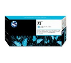 HP Printer Accessories hp 81 light cyan designjet dye printhead and printhead cleaner c4954a