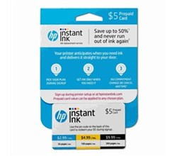 Hot Deals hp instant ink prepaid card 5